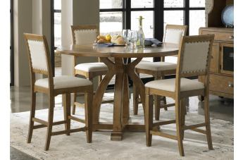 Liberty Furniture Town U0026 Country 5 Piece Gathering Table Dining Set In  Sandstone
