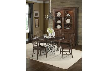 Klaussner Blue Ridge 5-Piece Round Dining Set in Cherry