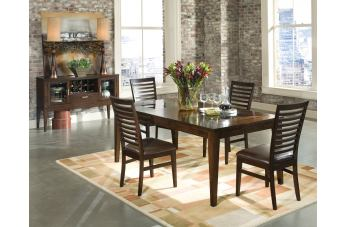 Intercon Furniture Kashi 7-Piece Rectangular Dining Set in Chocolate and Acacia