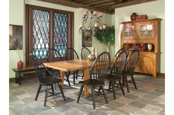 Intercon Furniture Rustic Traditions 7-Piece Dining Set in Rustic/Black