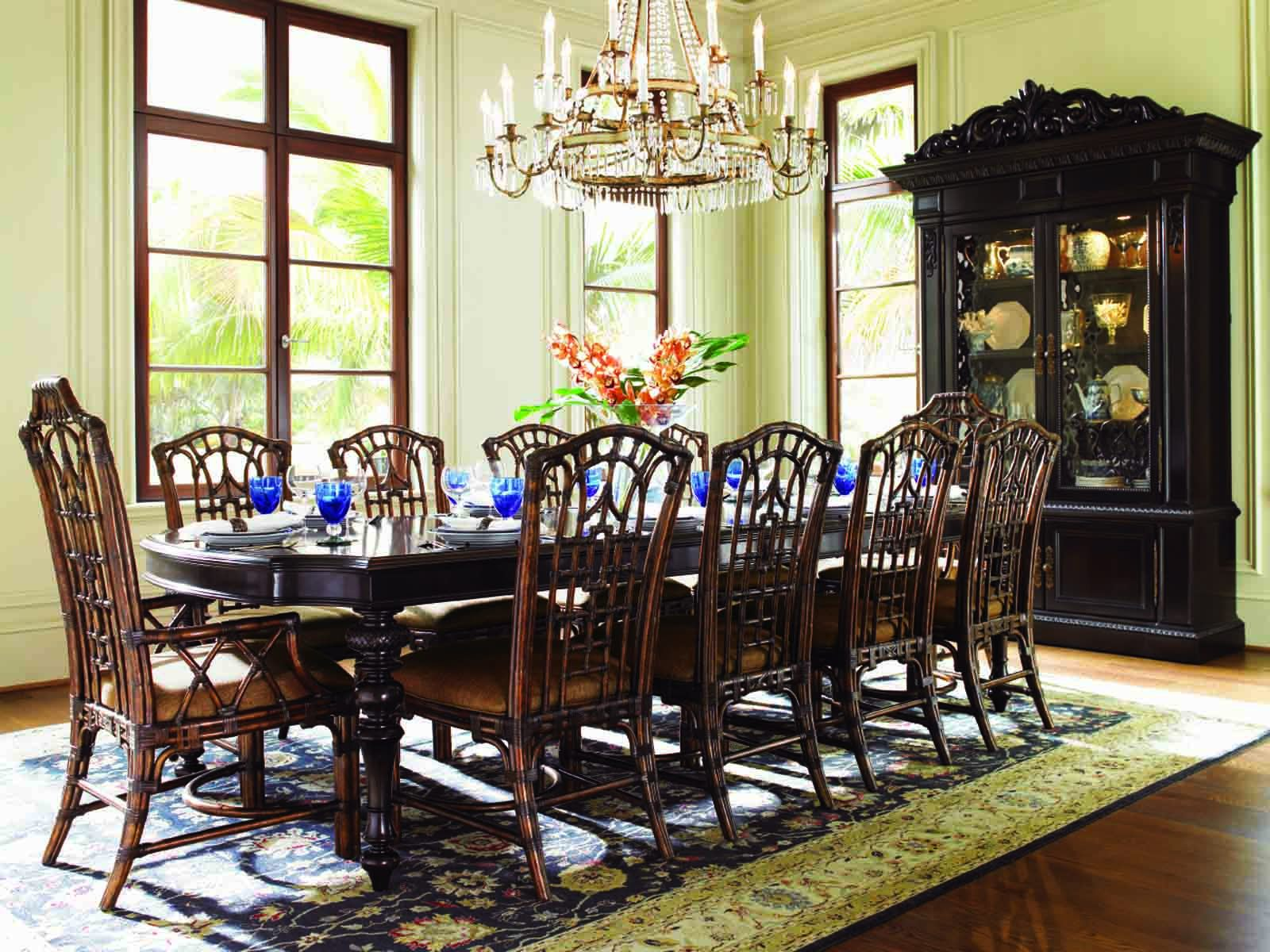 Great Lexington Tommy Bahama Royal Kahala Islands Edge Dining Set W/Pacific Rim  Chairs By Dining Rooms Outlet