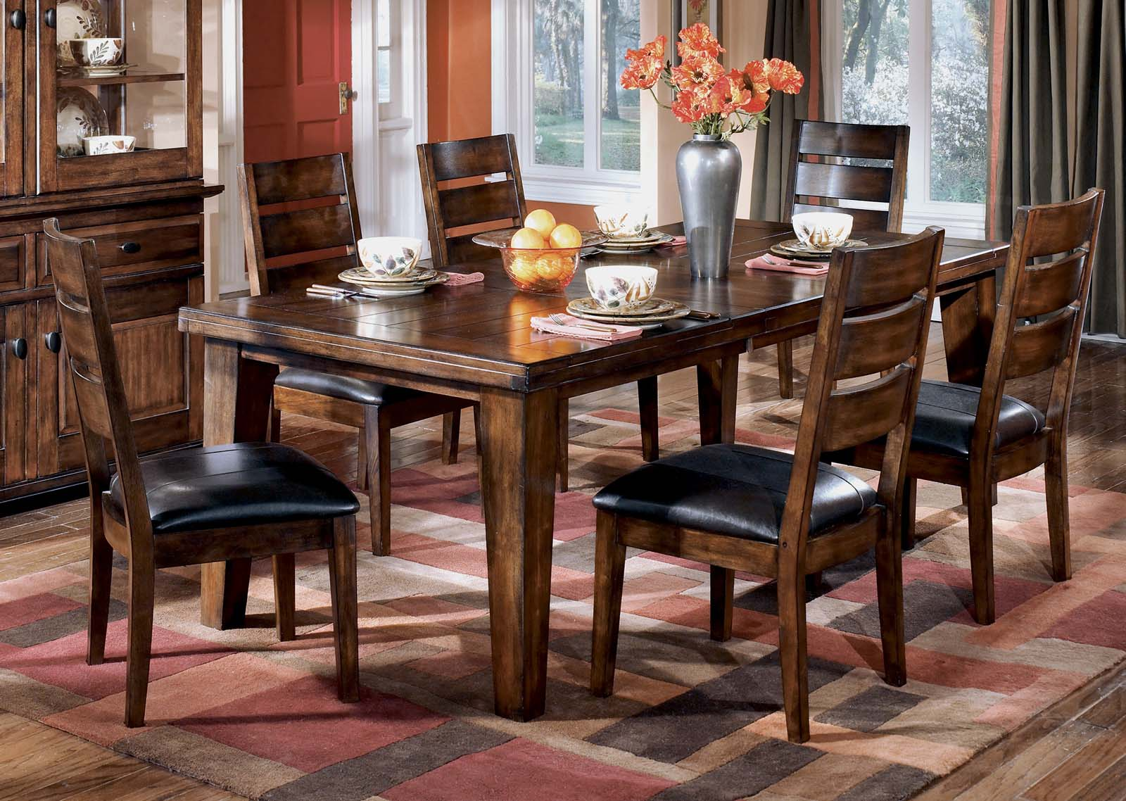 Larchmont 7 Piece Rectangular Extension Table Set By Dining Rooms Outlet