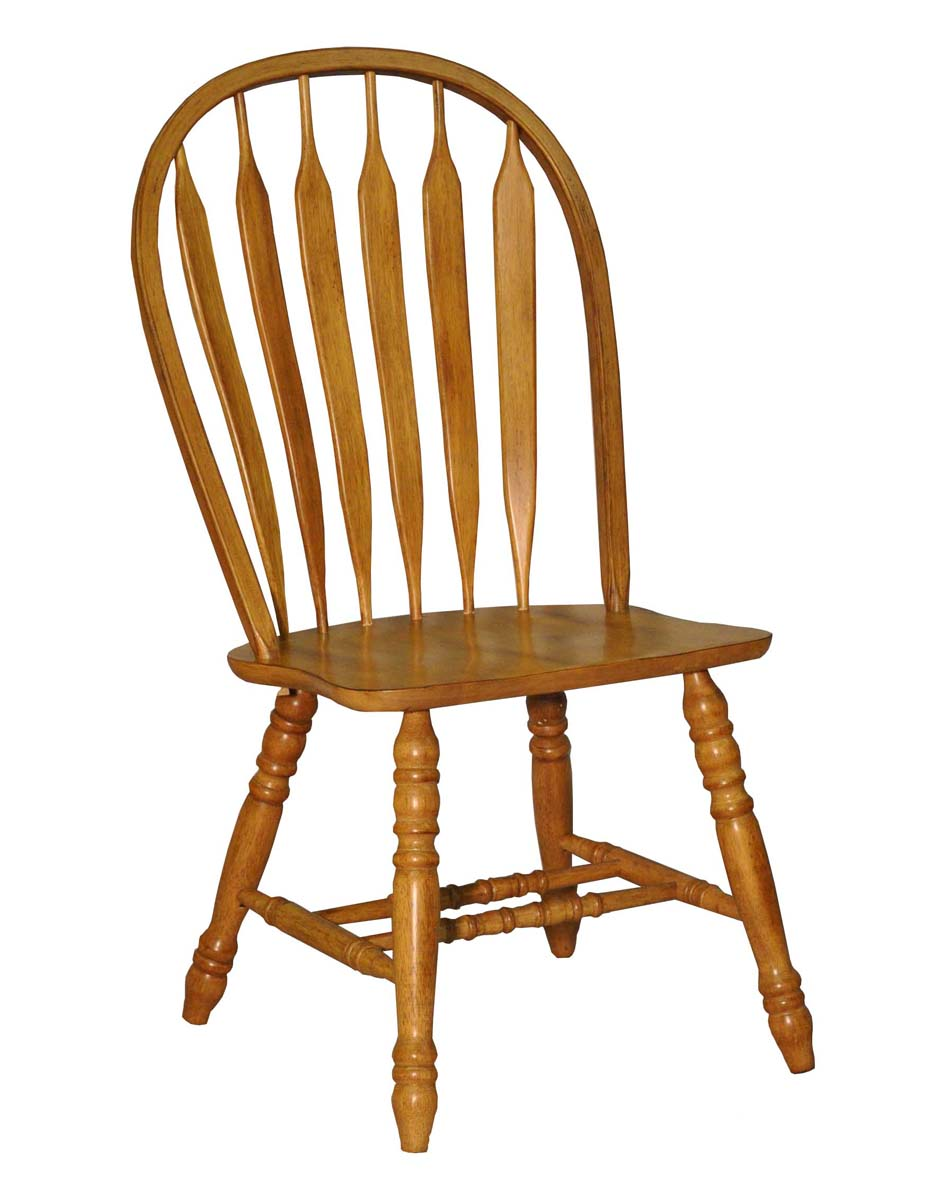 Bow Back Dining Chairs ~ Eci furniture bow back side chair in rustic oak s