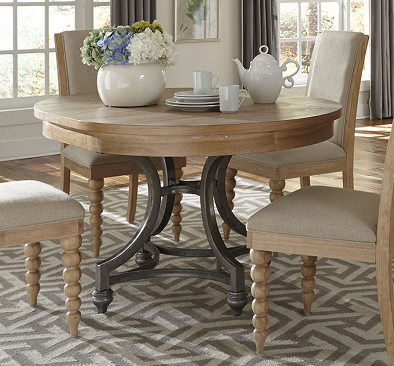 Dining Tables Clearance: Liberty Furniture Harbor View Round Dining Table In Sand