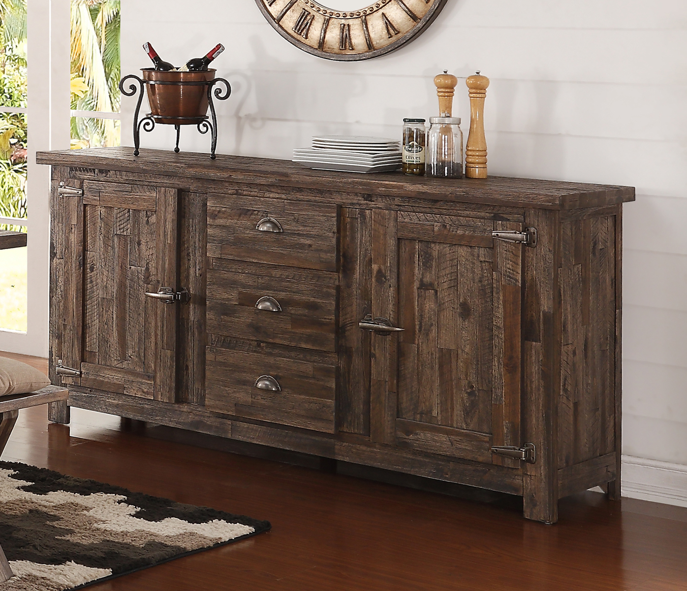 New Classic Furniture Tuscany Park Sideboard In Vintage